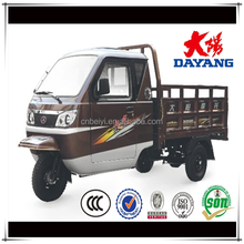 motorized 180 drum brake cargo 3 wheel tricycle with enclosed cabin