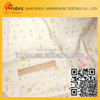 Alphabetic twill cotton baby clothing bedding set letters printed fabric