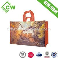 Factory trolley shopping bag with chairs customized logo printing