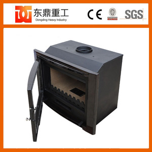 Large cast iron wood fireplace/wood burning stove insert for home heating