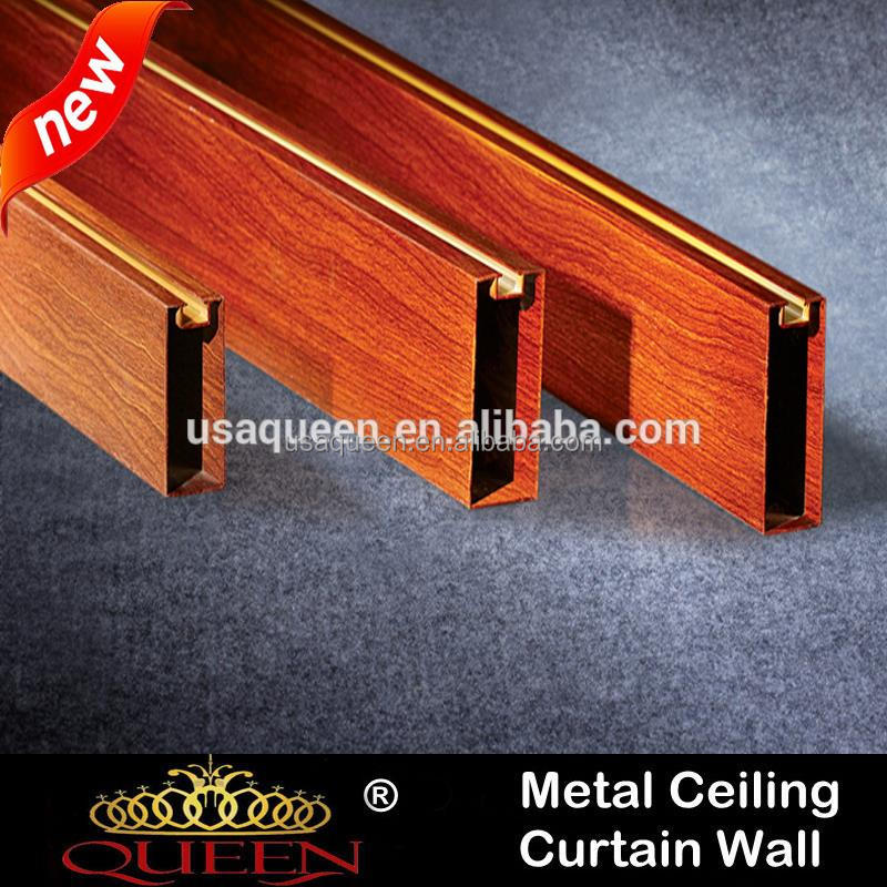 Hot selling artistic aluminum linear ceiling/baffle ceiling with high quality