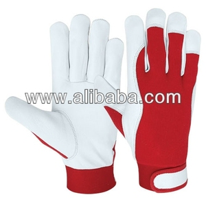 High Quality Leather Assembly Work Gloves / Interlock Gloves