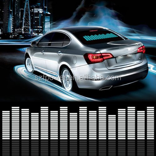 Hot and popular el car stickers with good quality/equaliser el car sticker/el flashing car sticker