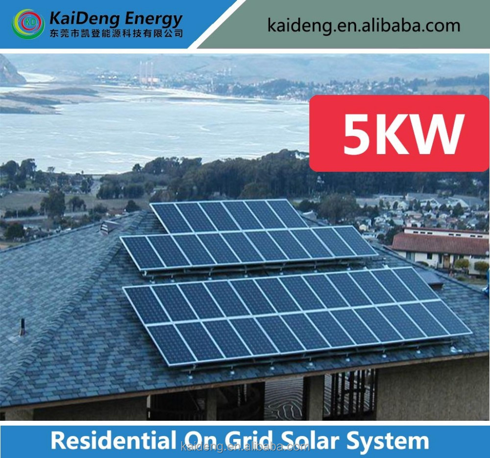 5kw On Grid Grid Solar 5kw Grid Solar Power System For