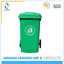 Best price mixed material 100l with wheels Made in china plastic garbage bin