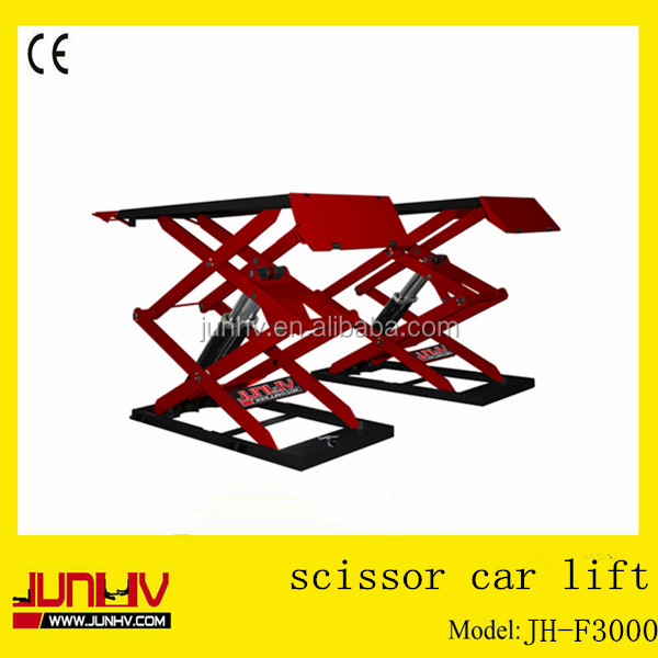 JUNHV 3T inground Alignment Scissor car Lift JH-F3000