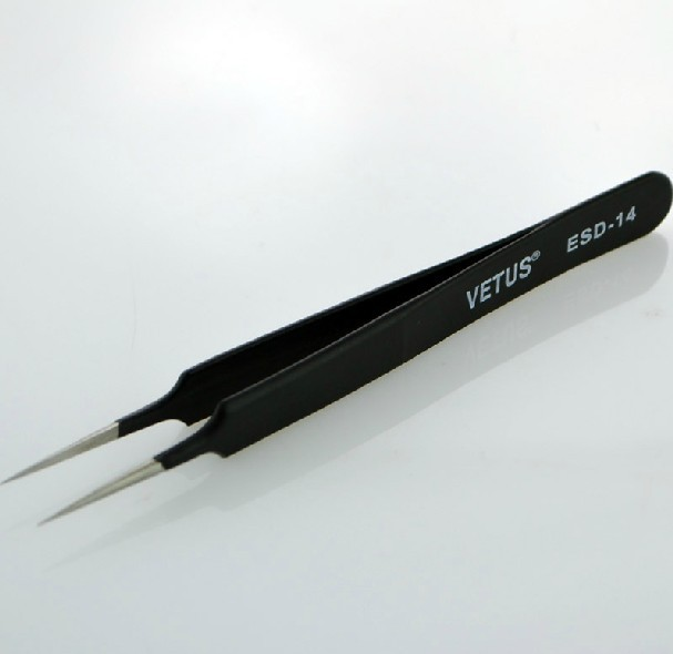 stainless steel tweezers VETUS ESD-14 ESD tweezers Series Anti-static precision tweezers