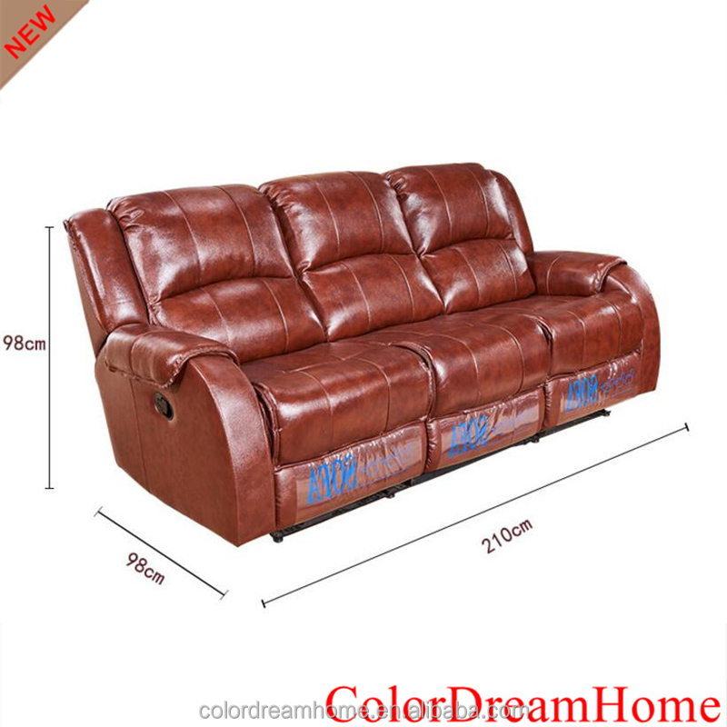 ColorDreamHome Brand luxury vip home theater sofa reclining cinema leather sofa