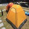 1-2 person orange solar roof top tent for sale CT030