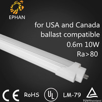 Ephan No Rewiring LED Tube Compatible for Fluorescent Grille Panel Light