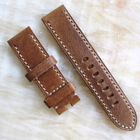 22mm vintage italian leather cuff watch band