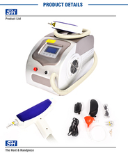 1064nm 532nm length nd yag laser hair/ tattoo removal machine