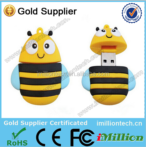 Animal bee shape usb memory sticks cheap manufacture flash usb high quality pen drive