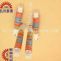 Aluminum cosmetic mascara tube packaging