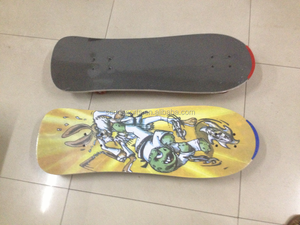 New 9 ply Chinese maple Wooden long board Skateboard with Brake