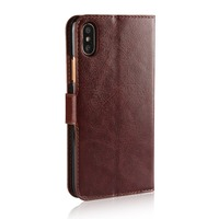 2017 Brand new for iPhone X mobile cover protective pu leather flip wallet cover case