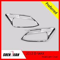 ABS Chrome Head Light Cover for Dmax Auto Protector in Silver Color Car body parts with Factory Price car accessories store