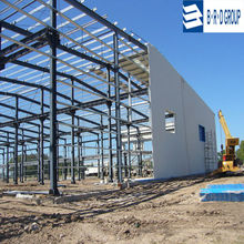 prefabricated light steel greenhouse steel structure