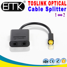 2017 hot new 2 in 1 out 2 way digital spdif toslink fiber optical audio splitter