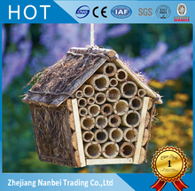 Custom logo hanging outdoor wooden insect hotel garden bee house