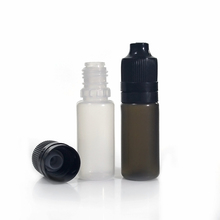 e cig liquid bottle 10ml PE with child proof & tamper proof long cap and long thin dropper