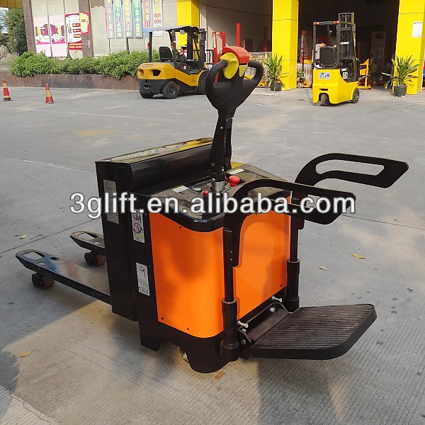 China Battery Power Pallet Jack, 2000kg.Capacity, with Stand-On Platform, CE certified