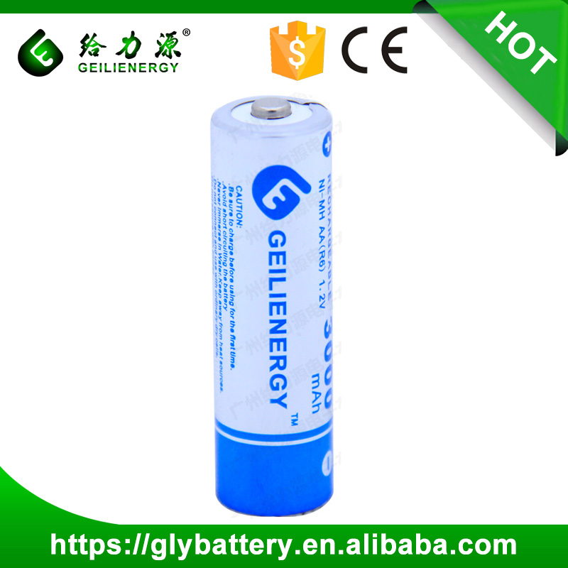 Geilienergy 3000mAh 1.2V AA NIMH Rechargeable Battery