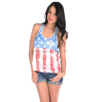 Hot sale American flag tank top, high quality womens flag tank top