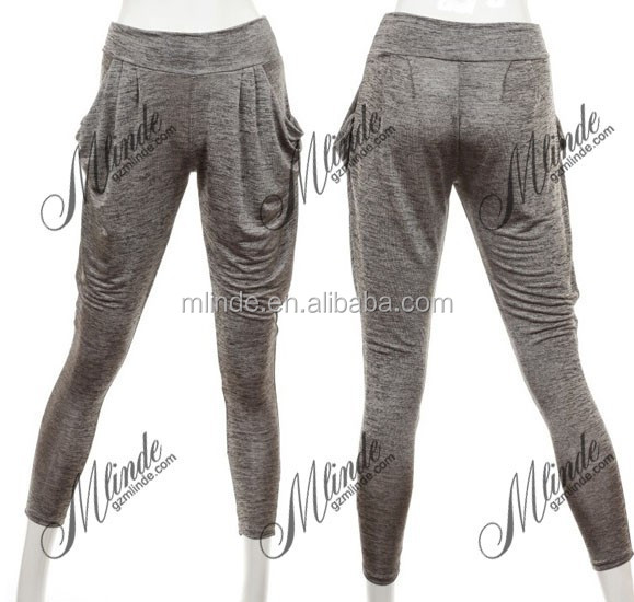 DRAW STRING TWO TONE COLOR PANTS WITH LINING WOMEN