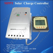 30A 12V 24V MPPT Solar Charge Controller, Solar Panel Battery Charger 30A