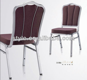 stackable hotel chair aluminium banquet