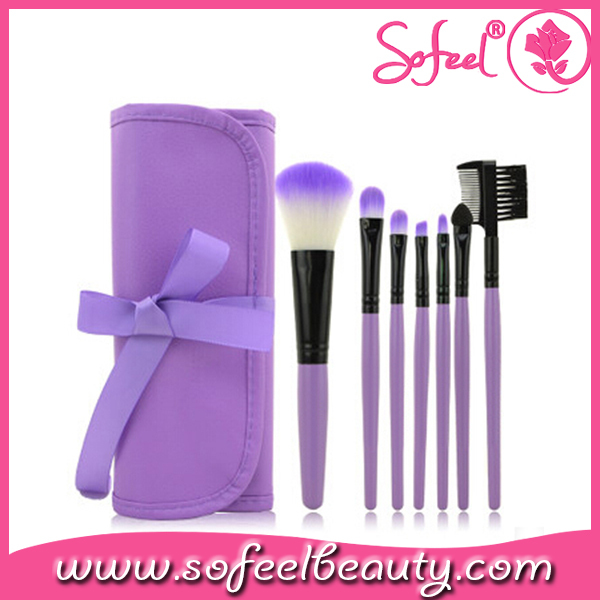 Sofeel fashionable cosmetic brush purple makeup brushes with bag