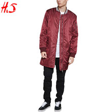 Wholesale Custom Dongguan Clothing Stylish Longline Men Bomber Varsity Jacket