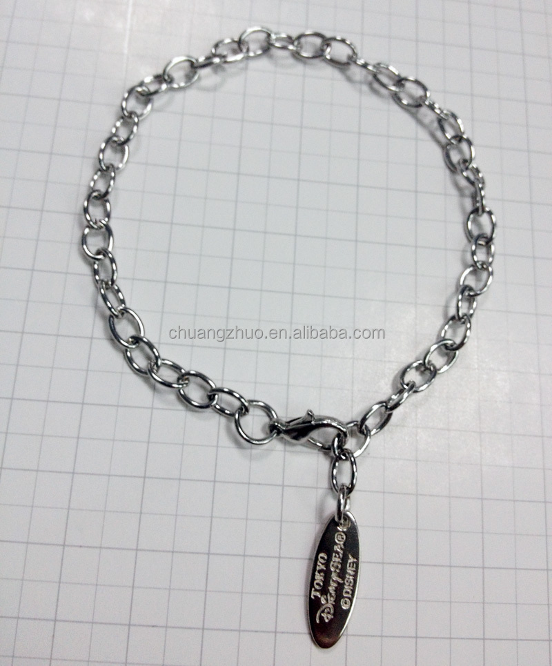 Hot sale cheap metal gift bracelets from GuangDong factory