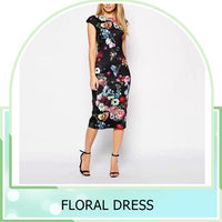 summer Lady Elegant Floral Printed Temperament Charm Slim Dress Casual Sleeveless Dress