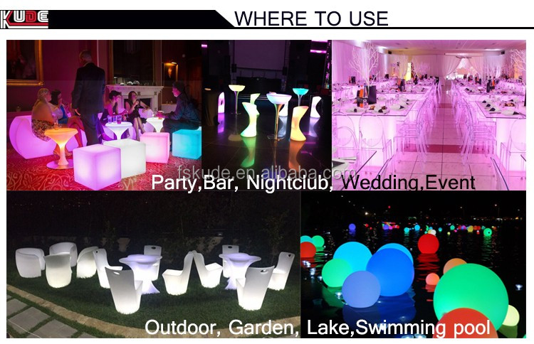 Colors options LED light up bar table/modern bar counter for nightclub