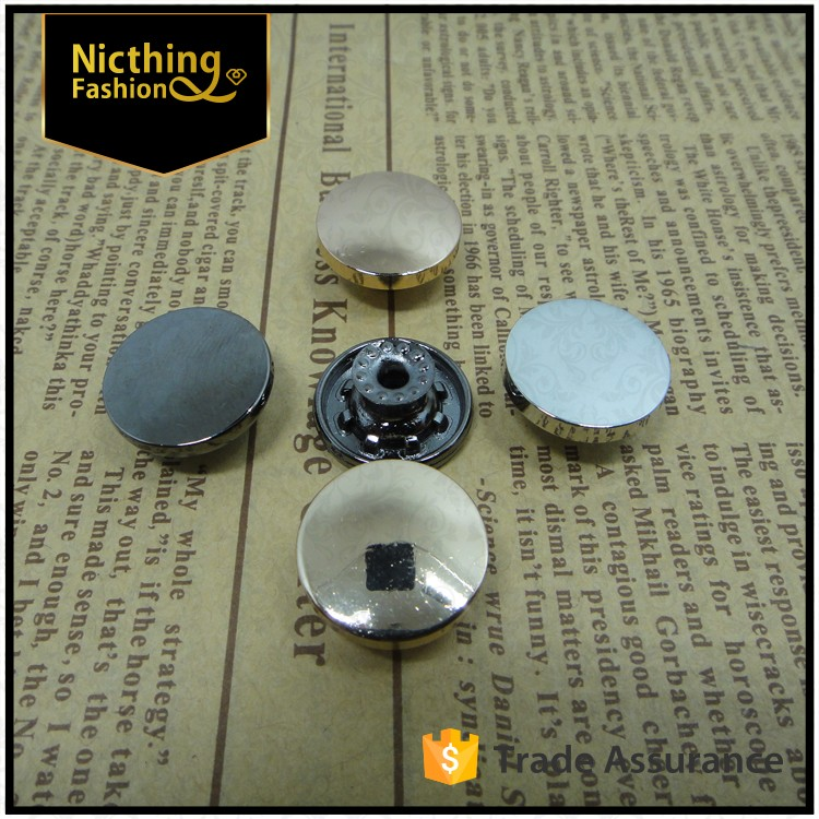 2015 high quality gold metal shank button for jean/denim/jacket
