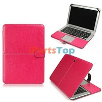 Colored Computer Protective Portfolio Cover For Macbook Air 11.6 inch A1370 PU Leather Case Sleeve Bag Cover 4 Colors