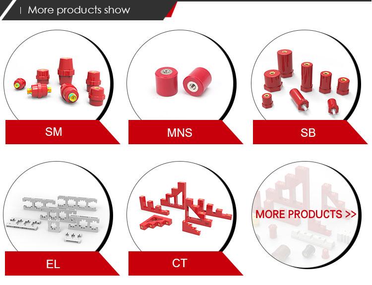 Top vender manilha elétrica isolador de barra de apoio tipo cilíndrico MNS20x30 vermelho inserir BMC de aço de certificação do CE tipo isolante