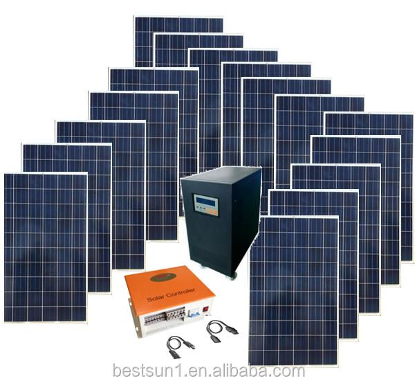 commercial standard solar generator 15KW for home , office and small factory use