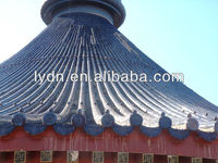 Unique roofing material pagoda clay Chinese tiles