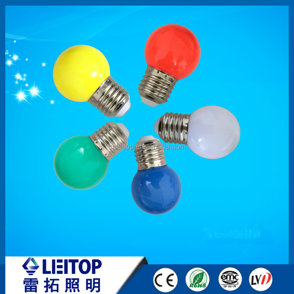 Holiday lighting from manufacture G45 white bulb mini led bulb 1W color Christmas light color light