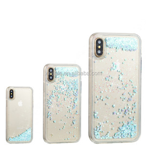 for iphone x 6 6S 7S 8S Plus New glitter hard pc case cover back housing bling bling case mobile phone accessories