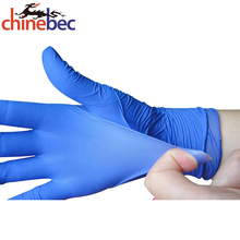 Custom Blue Color Powder Free Nitrile Medical Gloves Powder Free