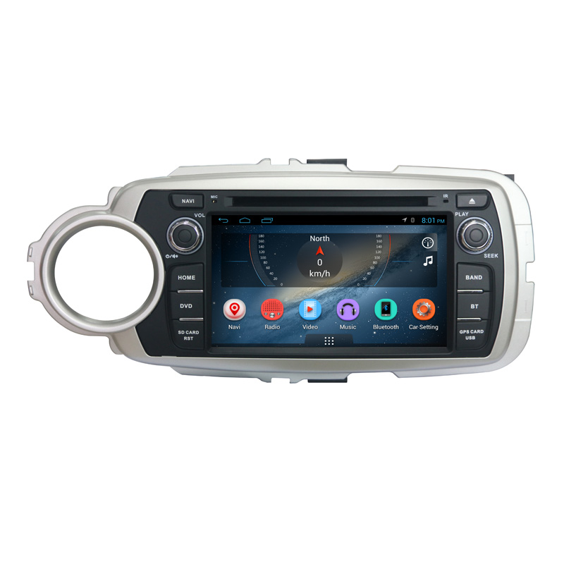 Android car audio speaker for toyota yaris 2012-2013 dvd gps navigation system and multimedia left hand drive