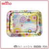 44x33x2cm/ 35x25.9x1.7cm Partyware beautiful blossom bright coffee tea melamine&plastic tray