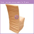 950 factory price flat top spandex wedding ruffled chair cover