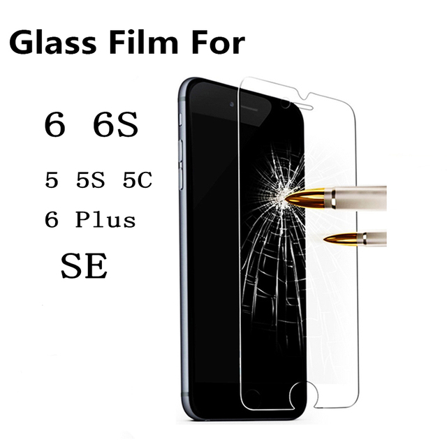 Premium Tempered Glass Screen Protector for iPhone 6 6S Toughened protective film cover For iPhone 7 plus