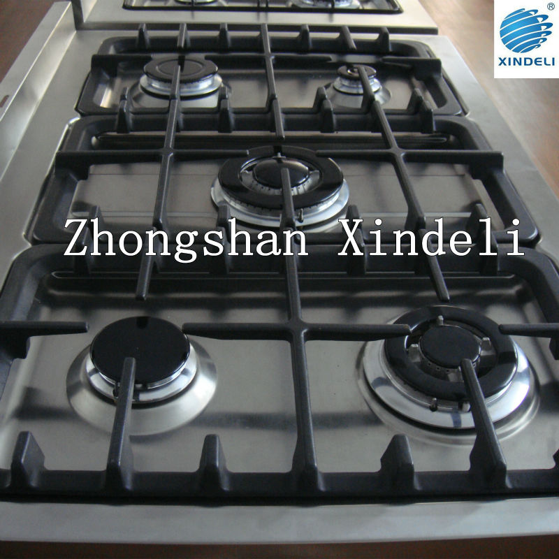 Cast Iron pan support Gas cooker with oven