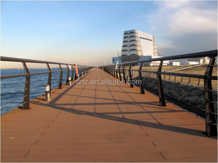 100% recycled anti-slip wood plastic composite wpc decking
